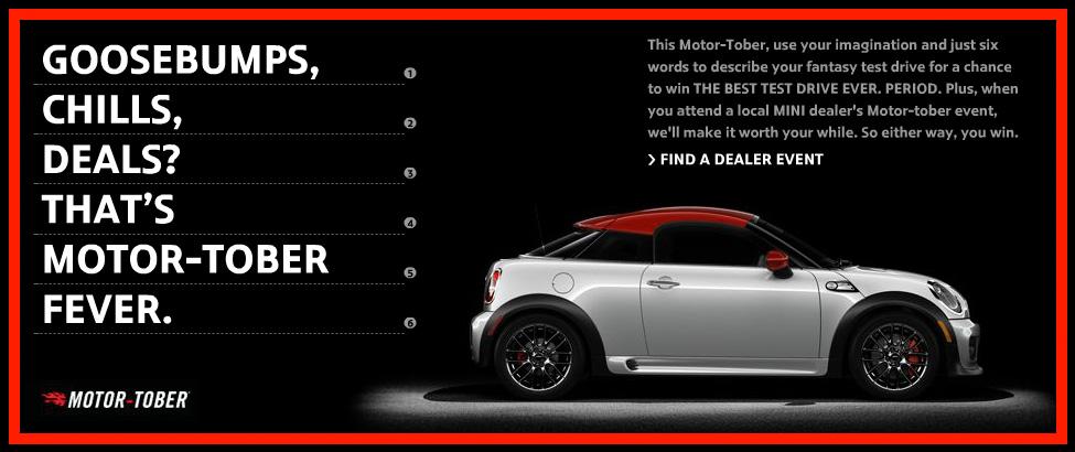 MINI's Motortober Coupé Contest