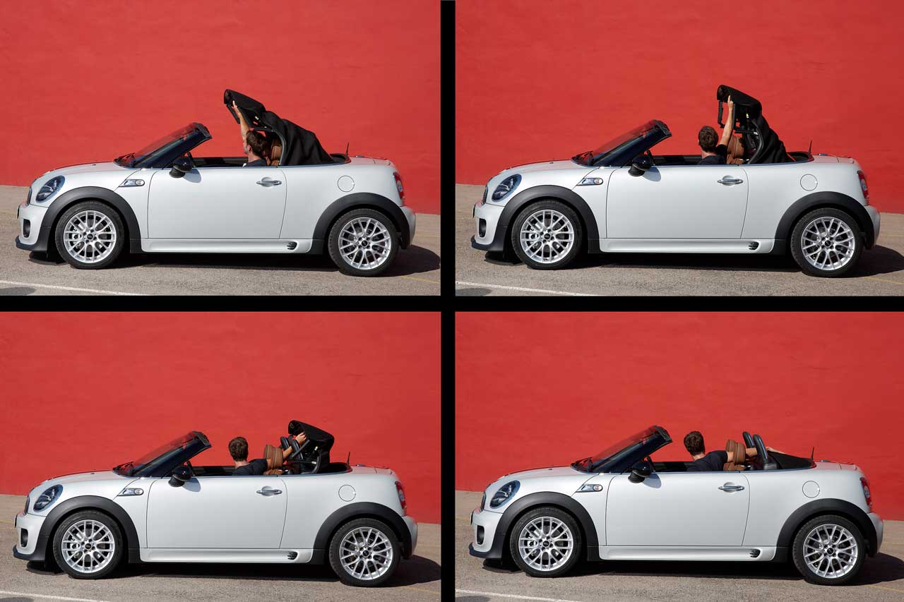 The Mini Roadsters Manual Top In Detail Motoringfile