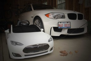 Review: Tesla Radio Flyer vs the MINI Convertible Electric Ride-on Car