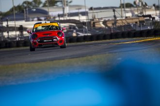 MINI 37 Rounding a Corner at Daytona