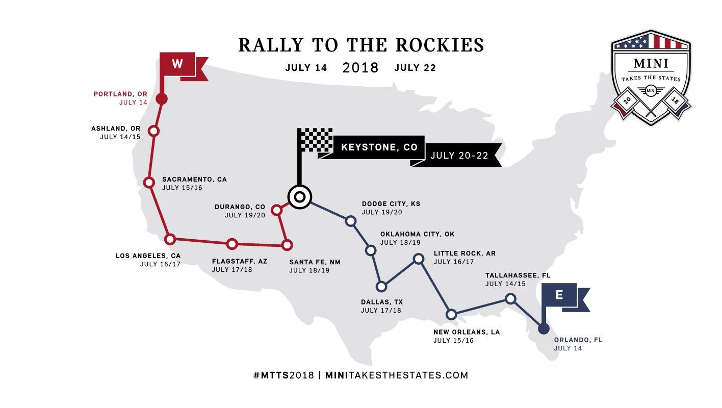 Mini takes the states 2018