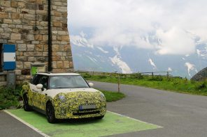 2019 MINI Electric Spotted Testing in the Alps