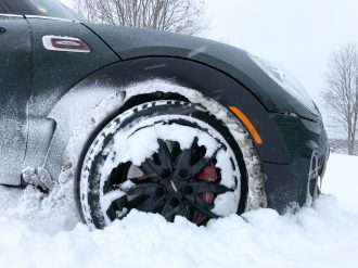 F54 JCW Clubman with Winter Tires (Blizzaks)