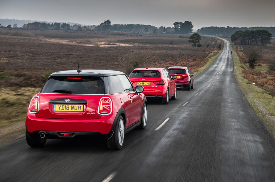 Triple Test - MINI Cooper vs Audi A1 and Ford Fiesta