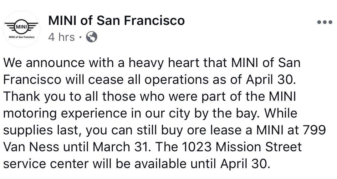 MINI dealers close