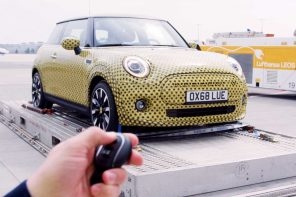 Watch the MINI Cooper S E Tow a Boeing 777 Jet