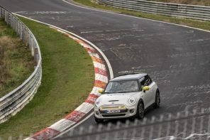 MINI Cooper SE Tests One-Pedal Driving at the Nurburgring